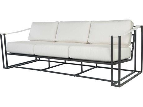 Ebel Capri Aluminum Sofa with Fabric Arms