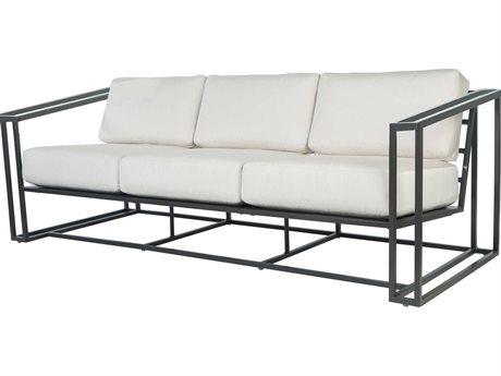 Ebel Capri Aluminum Sofa with Aluminum Arms