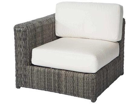 Ebel Orsay Cushion Wicker Smoke Left / Right Lounge Chair PatioLiving