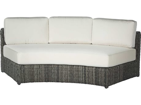 Ebel Orsay Cushion Wicker Curved Sofa