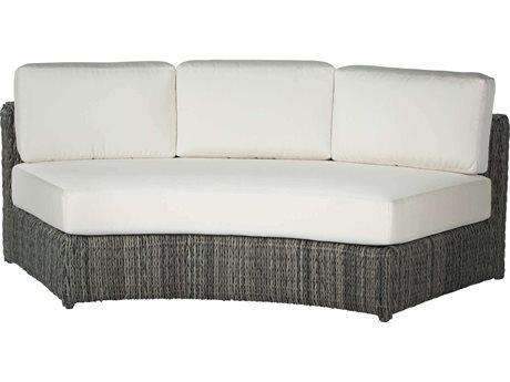 Ebel Orsay Cushion Wicker Smoke Curved Sofa PatioLiving