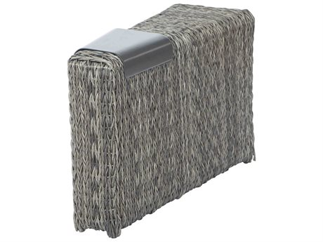 Ebel Orsay Wicker Smoke Wedge Armrest Section with Removable Aluminum Tray PatioLiving