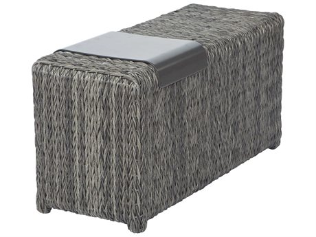 Ebel Orsay Wicker Smoke 37''W x 14''D Rectangular with Removable Tray PatioLiving