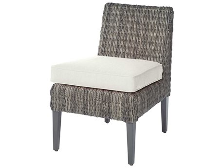 Ebel Orsay Cushion Wicker Smoke Dining Side Chair PatioLiving