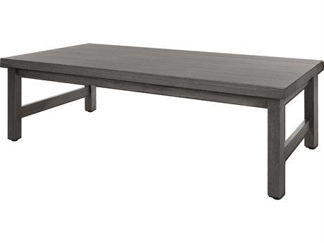 Ebel Trevi Aluminum 60''W x 30''D Rectangular Plank Top Coffee Table PatioLiving