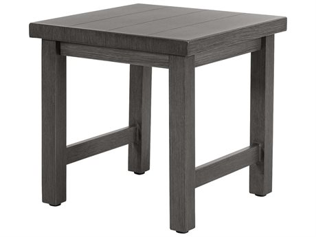 Ebel Trevi Aluminum 20''Wide Square Plank Top Coffee Table PatioLiving