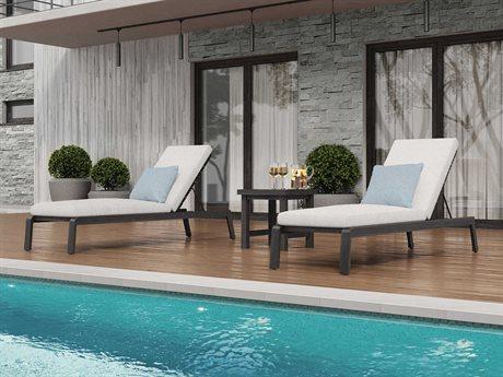 Ebel Antibes Aluminum Wicker Lounge Set