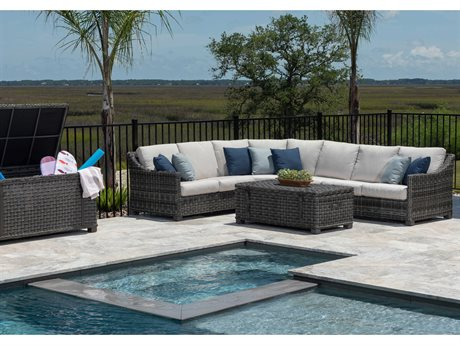 Ebel Avallon Wicker Sectional Lounge Set PatioLiving
