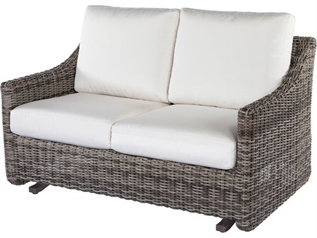 Ebel Avallon Loveseat Glider / Curve Loveseat Replacement Cushions PatioLiving
