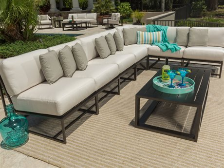 Ebel Capri Aluminum Sectional Lounge Set