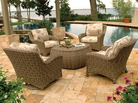 Ebel Dreux Wicker Lounge Set PatioLiving