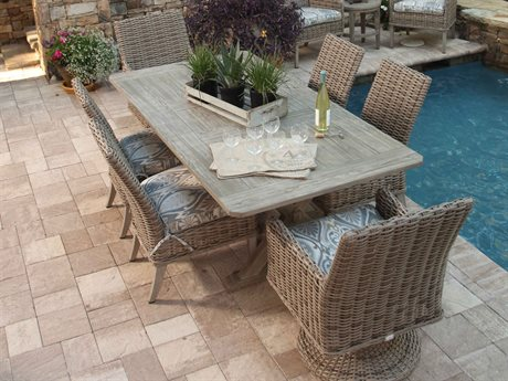 Ebel Laurent Wicker Dining Set