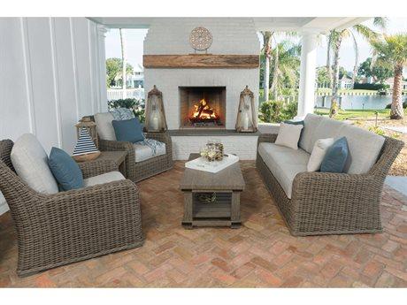 Ebel Laurent Cushion Wicker Lounge Set PatioLiving