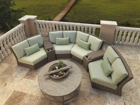 Ebel Laurent Wicker Sectional Lounge Set