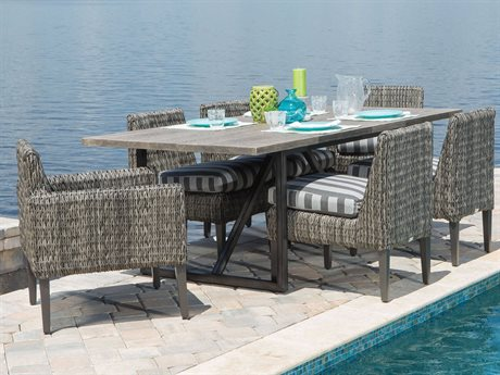 Ebel Orsay Cushion Wicker Dining Set PatioLiving