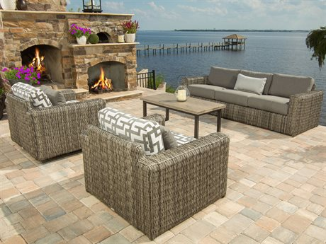 Ebel Orsay Wicker Lounge Set