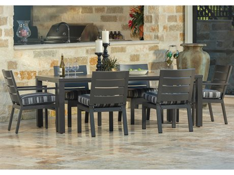 Palermo Cushion Aluminum Dining Set