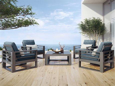 Ebel Palermo Cushion Aluminum Lounge Set PatioLiving