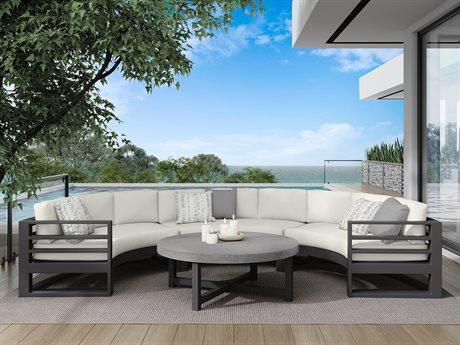 Ebel Palermo Cushion Aluminum Sectional Lounge Set