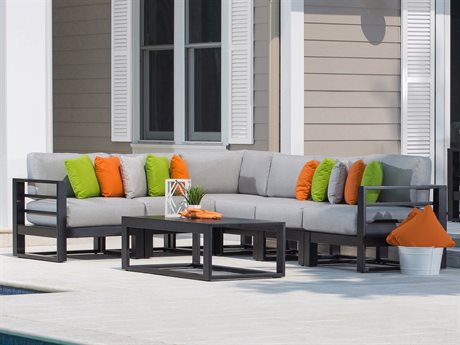 Ebel Palermo Aluminum Sectional Lounge Set