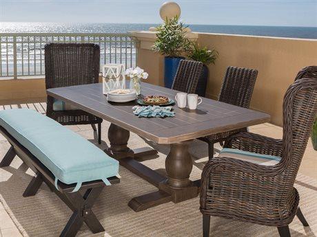 Ebel Portofino Cushion Wicker Dining Set