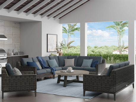 Ebel Remy Wicker Sectional Lounge Set PatioLiving