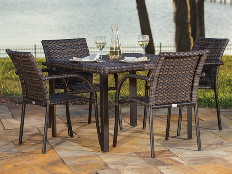 Ebel Tremont Chestnut Wicker Dining Set