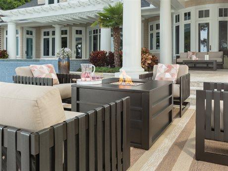 Ebel Tavera Aluminum Fire Pit Lounge Set