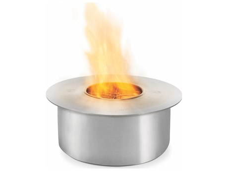 EcoSmart Fire AB8 Round Bioethanol Burner - Stainless Steel Finish PatioLiving
