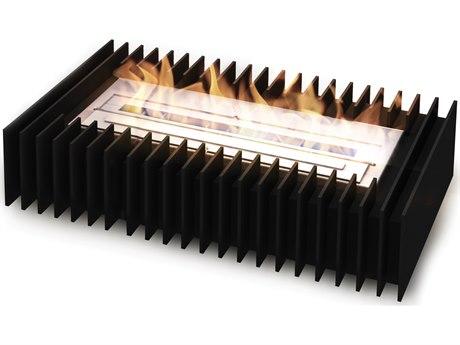 EcoSmart Fire Scope Indoor Bioethanol Fireplace Grate Insert - 500 - Black Finish
