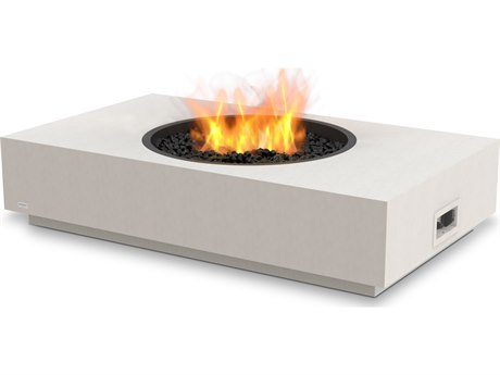 EcoSmart Fire Martini 50'' Wide Concrete Steel Rectangular Fire Pit Table
