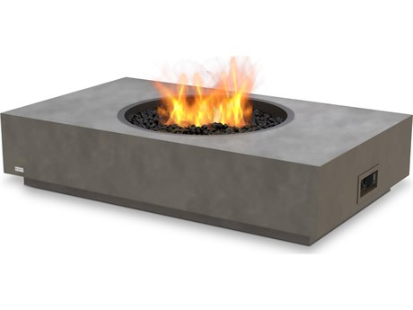 EcoSmart Fire Martini 50'' Wide Concrete Steel Rectangular Fire Pit Table PatioLiving