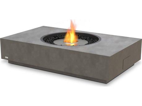 EcoSmart Fire Martini 50'' Wide Concrete Steel Rectangular Fire Pit Table