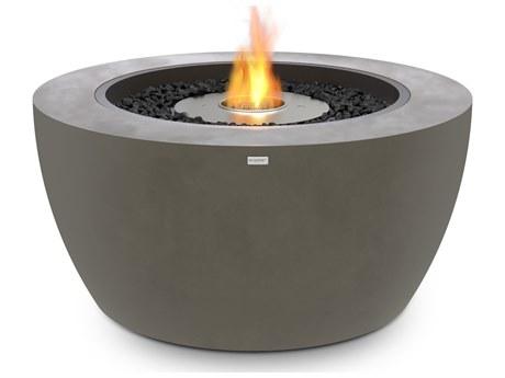 Ecosmart Fire Pod40 39'' Wide Concrete Steel Round Pit Table
