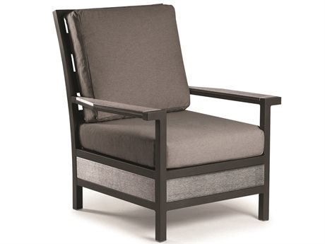 Eddie Bauer Adventure Matte Charcoal/ Driftwood Aluminum Cushion Lounge Chair