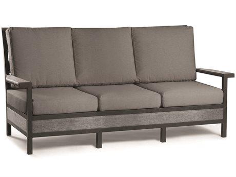 Eddie Bauer Adventure Matte Charcoal/ Driftwood Aluminum Cushion Sofa EDBADV103MCD