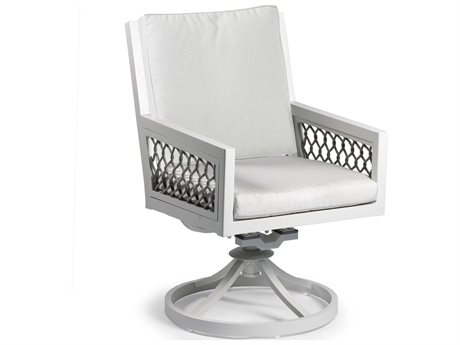 Woodard Belden Cushion Aluminum Dining Swivel Rocker