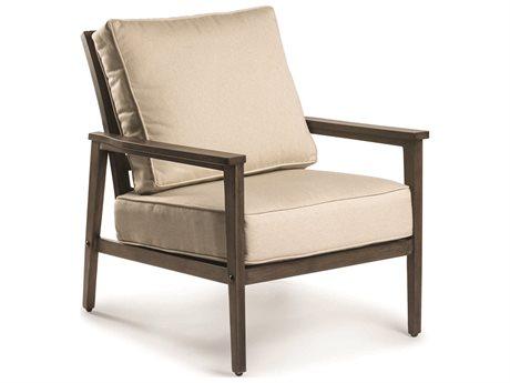 Eddie Bauer Horizon Faux Aged Teak Aluminum Cushion Lounge Chair