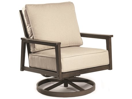Eddie Bauer Horizon Faux Aged Teak Aluminum Cushion Lounge Chair