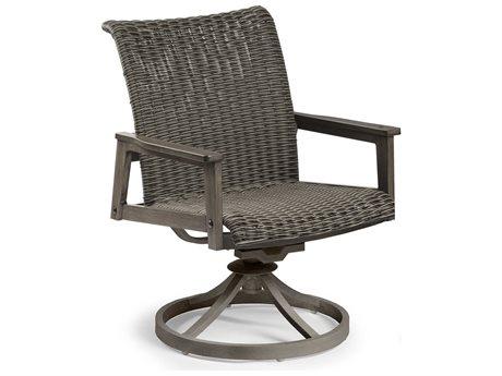 Eddie Bauer Horizon Faux Aged Teak Aluminum Wicker Dining Chair