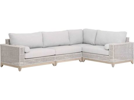Essentials for Living Outdoor Woven Cushion Sectional Sofa PatioLiving