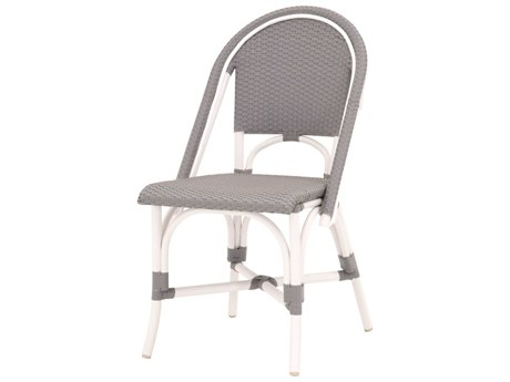 Essentials for Living Outdoor Sample White / Gray Dining Chair (Sold in 2) PatioLiving