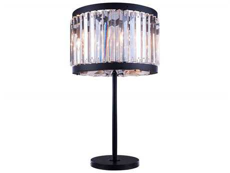 Elegant Lighting Chelsea Mocha Brown & Clear Crystal Four-Lights Buffet Lamp