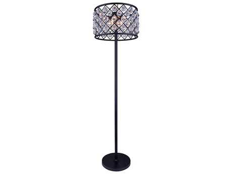 Elegant Lighting Madison Mocha Brown & Clear Crystal Four-Lights Floor Lamp