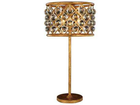 Elegant Lighting Madison Golden Iron Three-Light Table Lamp
