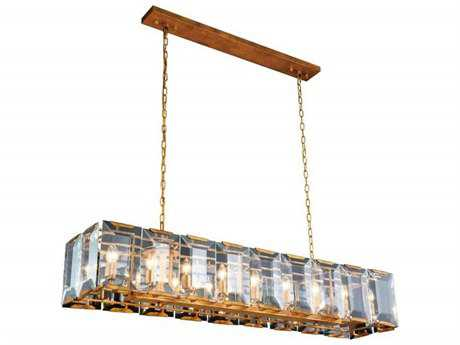 Elegant Lighting Monaco Golden Iron 18-Light 62'' Long Island Light