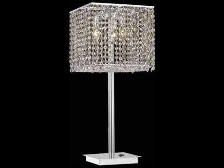 Elegant Lighting Moda Chrome Three-Lights Table Lamp