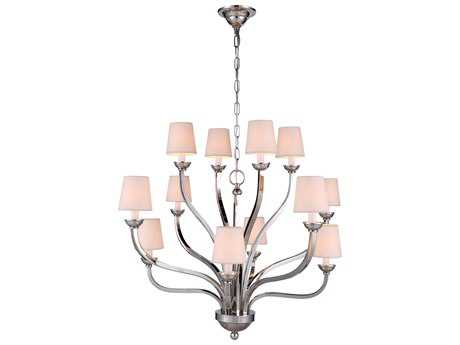 Elegant Lighting Vineland Polished Nickel 12-Lights 34'' Wide Chandelier