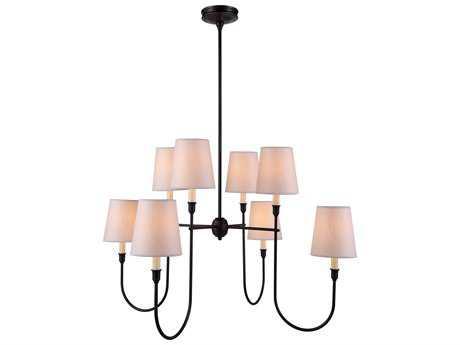Elegant Lighting Lancaster Bronze Eight-Lights 36'' Wide Chandelier