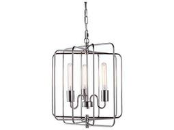 Elegant Lighting Lewis Polished Nickel Three-Lights 16'' Wide Mini Chandelier